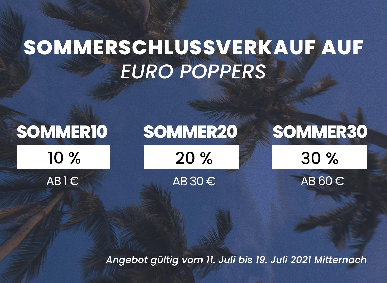 Sommerschlussverkauf auf Euro Poppers !